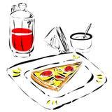 Aliments de préparation rapide Photos stock