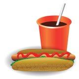 Aliments de préparation rapide illustration stock