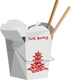 Aliments de préparation rapide chinois illustration stock