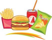 aliments de préparation rapide délicieux Image stock