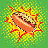 Aliments de préparation rapide de hot-dog Photos libres de droits