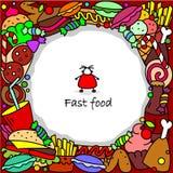 Aliments de préparation rapide en cercle Photo libre de droits