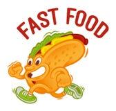 Aliments de préparation rapide de hot-dog Photographie stock libre de droits