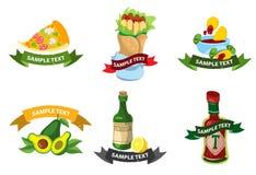Aliments de préparation rapide mexicains de logos Photographie stock libre de droits