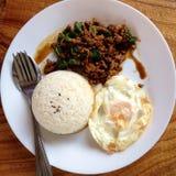 Aliments de préparation rapide thaïs Image libre de droits