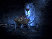 Aliments pour chats de bébé de souris de chat Image stock