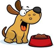 Aliments pour chiens de bande dessinée illustration stock