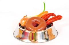Aliments pour chiens malsains Image stock
