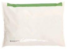 Aliments surgelés d'étiquette de blanc de sac d'épicerie Photographie stock