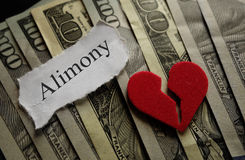 Alimony divorce concept Stock Photo
