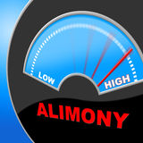 Alimony High Shows Over The Odds And Divorce Stock Photos