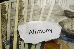Alimony note Royalty Free Stock Photos