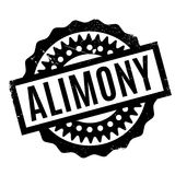 Alimony rubber stamp Royalty Free Stock Photos