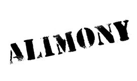 Alimony rubber stamp Stock Photography