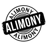 Alimony rubber stamp Royalty Free Stock Images