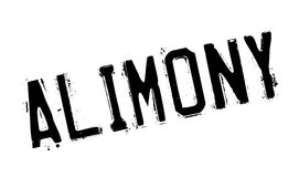 Alimony rubber stamp Stock Images