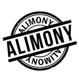 Alimony rubber stamp Stock Photo