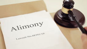 Alimony. Title On Legal Documents