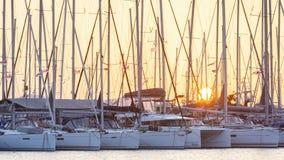 Alimos小游艇船坞在雅典 免版税库存照片