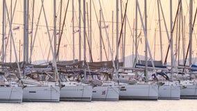 Alimos小游艇船坞在雅典 库存照片