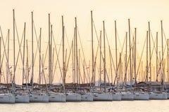 Alimos marina i Aten Arkivfoton