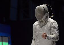 Alin Badea. Romanian Fencer Alin Badea pictured during the Romanian National Men Fencing Championship Final against Tiberiu Dolniceanu Royalty Free Stock Images