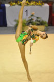 alina体操makarenko节奏性的俄国 免版税库存图片