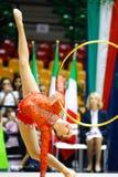 Alina Maksymenko com aro Imagens de Stock Royalty Free