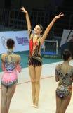 Alina Maksymenko at Deriugina Cup Royalty Free Stock Photography
