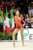 ALINA MAKSYMENKO RHYTHMIC GYMNASTIC. Desio (MI), Italy, 1st December 2012 - Serie A1: The athlete in the photo is ALINA MAKSYMENKO, performing with clubs, for stock photos