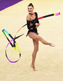 Alina Maksymenko (Ukraine) performs at World Cup Stock Photography