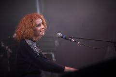 Alina Orlova bij solo overlegt bij Zaxidfest-festival royalty-vrije stock foto