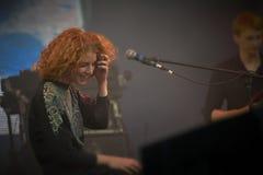 Alina Orlova bij solo overlegt bij Zaxidfest-festival stock afbeeldingen