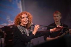 Alina Orlova at solo concert at Zaxidfest festival Royalty Free Stock Photo