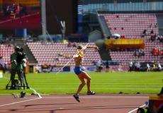 Free Alina Shukh Ukraine Win Javelin Throw Final In The IAAF World U20 Championship In Tampere, Finland 12th July, 2018. Stock Image - 122128531