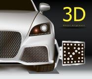 alineación de rueda 3D ilustración del vector
