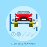 Alineación de ruedas stock de ilustración