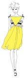 Alineada amarilla Foto de archivo