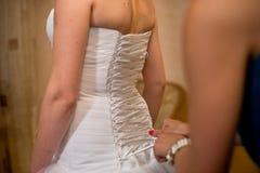 Alineada de boda Foto de archivo