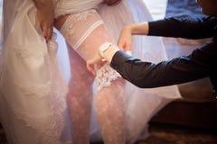 Alineada de boda Imagen de archivo