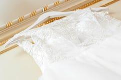 Alineada de boda blanca Imagenes de archivo