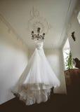 Alineada de boda de la novia Imagen de archivo libre de regalías