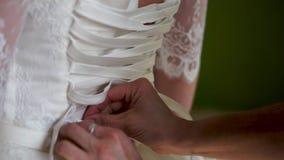 Alineada de boda Preparaciones para la boda metrajes