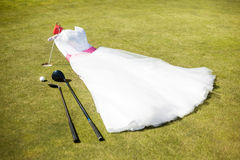 Alineada de la novia Foto de archivo libre de regalías