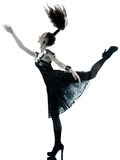 Alineada de seda del verano del negro de la manera de la mujer Fotografía de archivo