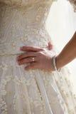 Alineada de una novia Imagen de archivo