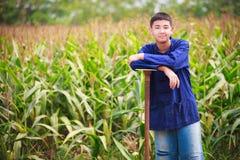 Alineada del granjero Foto de archivo