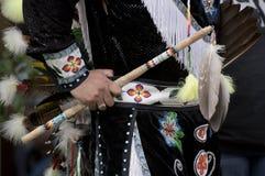 Alineada del nativo americano Fotografía de archivo