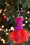 Alineada del ornamento de la Navidad Foto de archivo libre de regalías