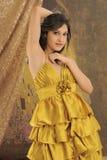 Alineada del oro Imagen de archivo